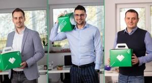 Cofondatorii LifeBox_Florin Scarlat, Radu Balaceanu si Lukasz Kuzniar