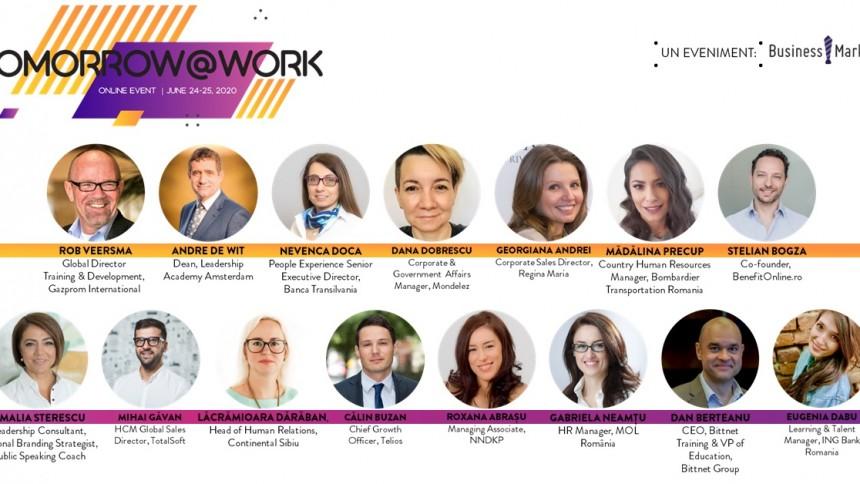 Vizual comunicat post-eveniment Tomorrow@Work Online