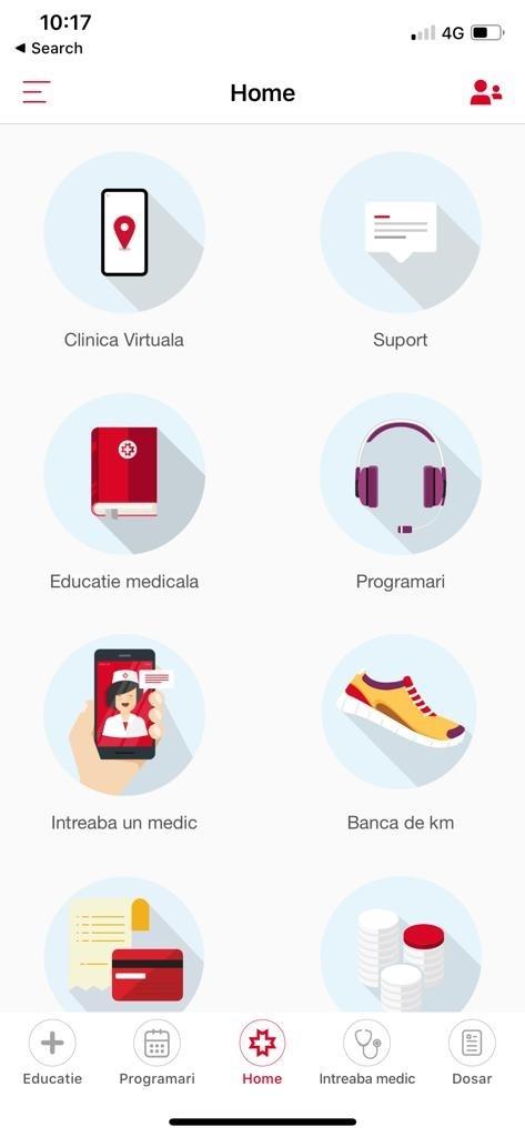 Clinica Virtuala REGINA MARIA in app